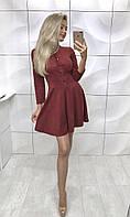 Красивое и модное платье из замша