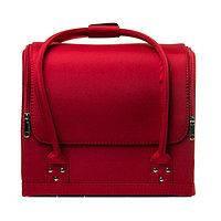 Бьюти-кейс для косметики (красный шелк), фото 1