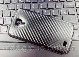"""Силиконовый чехол """"Карбон"""" для Samsung S4"""