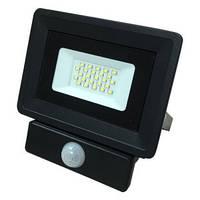 Светодиодный прожектор с датчиком движения 20W Slim 6000-6500K