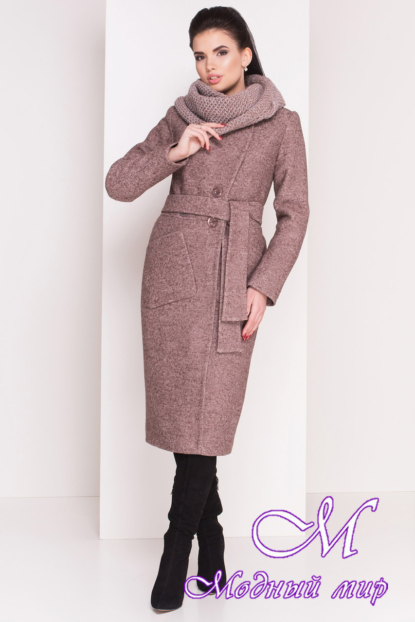 Женское длинное зимнее пальто (р. S, М, L) арт. Габриэлла 4222 - 20806