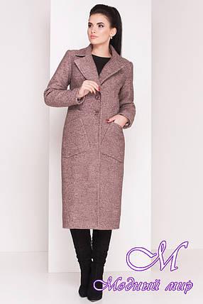 Женское длинное зимнее пальто (р. S, М, L) арт. Габриэлла 4222 - 20806, фото 2