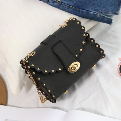 1f9bd673c00d Маленькая женская сумка с заклепками на цепочке черная - PrettyLady.com.ua  в Каменском