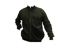 """Флисовая подстежка-куртка """"Milt-02"""" с трикотажным воротом(цвет черный)"""