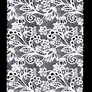 Фольга переводная белая, кружево №2