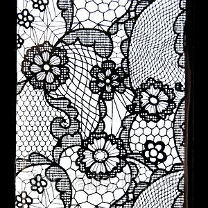 Фольга переводная белая, кружево №3