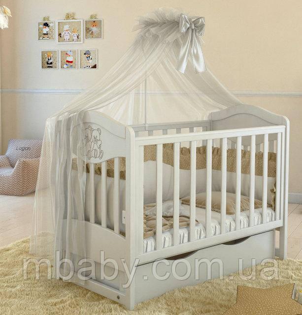 Детская кроватка L2 Premium  (Белый цвет)