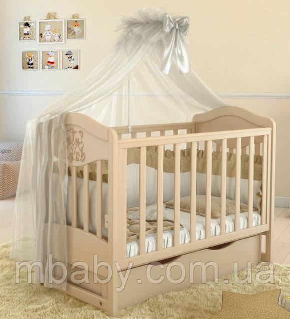 Дитяче ліжечко L 2 Premium (Колір слонової кістки)