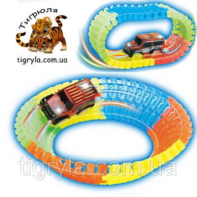 Дорога светящаяся, Track CAR,  Авто-трек Меджик трек, Magic Tracks конструктор, фото 2