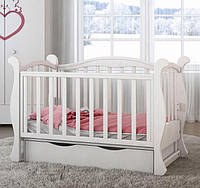 Детская кроватка L 6 Premium  (Белый цвет)