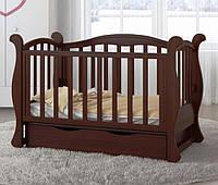 Детская кроватка L 6 Premium  (тёмный орех)