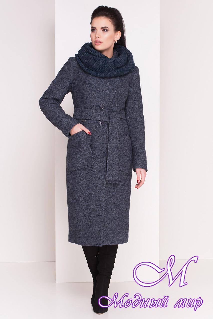 Теплое женское зимнее пальто ниже колена (р. S, М, L) арт. Габриэлла 4222 - 20804