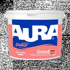 Адгезионная грунтовка с кварцевым наполнителем AURA Dekor Grund, 10л