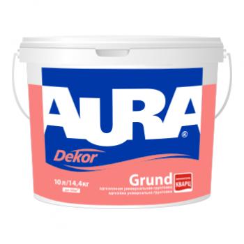 Адгезионная грунтовка с кварцевым наполнителем AURA Dekor Grund, 2,5л, фото 2
