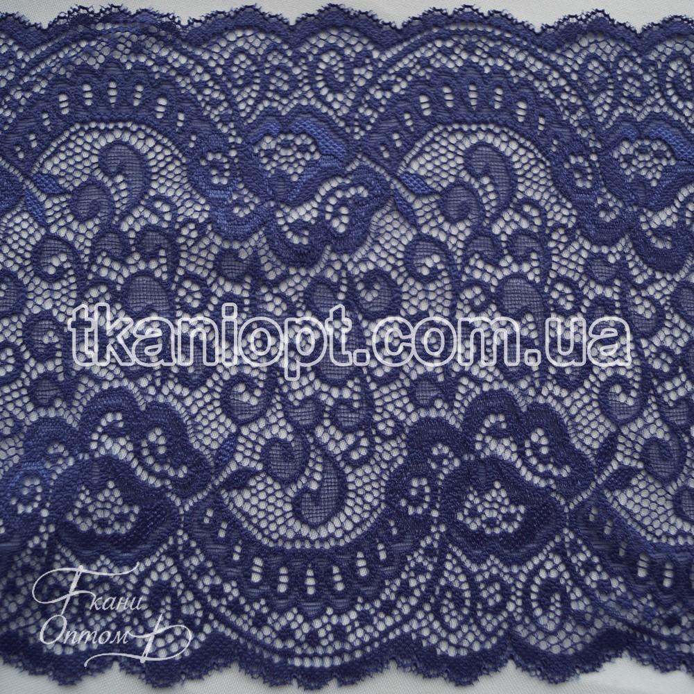 Ткань Кружево 20см (синий)