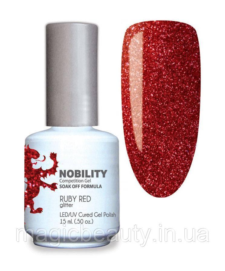 Гель-лак Lechat Nobility 107 RUBY RED - красный, глиттерный, 15 мл