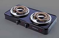 Электрическая плита настольная Элна 020Н (2 конфорки) широкая-2,5 квт