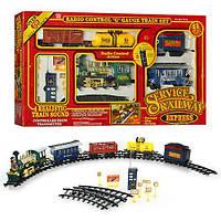 ЖД  на р/у RMT-TI- 2031(паровоз 35см (звук, свет, дым), вагоны 3шт(пассажирский вагон, грузовой вагон, цистерна)