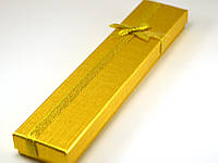 Коробка подарочная 21,5*4*2см, золото