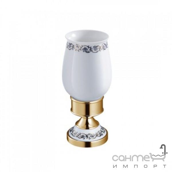 Аксессуары для ванной комнаты Kraus Керамический стакан с держателем Kraus Apollo KEA-16513 G золото