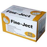 """Иглы для инсулиновых шприц-ручек """"Fine Ject S"""" 4 мм"""