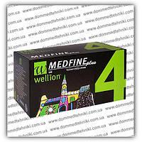 Иглы Wellion Medfine Plus для инсулиновых шприц-ручек 4 мм (32G x 0,23 мм), фото 1