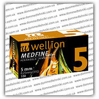 Голки Wellion Medfine Plus для інсулінових шприц-ручок 5 мм (31G x 0,25 мм)