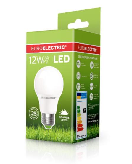 Лампа світлодіодна EUROELECTRIC LED 12w 4000K E27 A60 12274 (EE) класична
