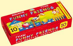 Гуашь ГАММА Забавные друзья 321040, 10 цветов (20мл)