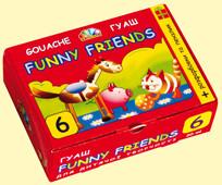 Гуашь ГАММА Забавные друзья 321038, 6 цветов (20мл)