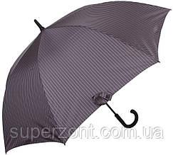 Серый мужской зонт-трость, полуавтомат FULTON FULG451-City-Stripe-Grey