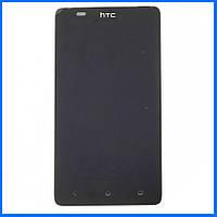 Дисплей (экран) для HTC Desire 400 Dual Sim, T528w One SU с тачскрином в сборе, цвет черный