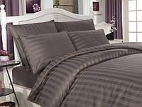 Комплект постельного белья сатин Altinbasak семейный размер Аntrasit