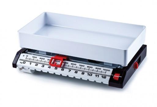Весы механические кухонные Момерт (Momert 7462), с чашей, пластик, черные, до 13 кг, Венгрия