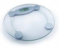 Весы напольные электронные на стеклянной платформе Момерт (Momert 5847), круглые, до 150 кг, Венгрия
