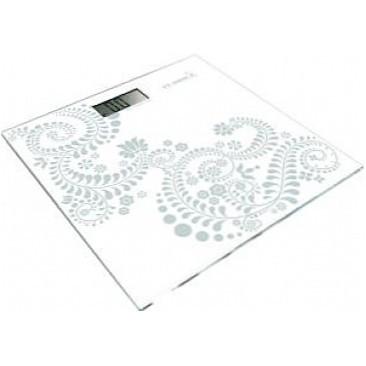 Весы напольные электронные на стеклянной платформе «Орнамент серебристый» Момерт (Momert 5848-9), до 180 кг, Венгрия