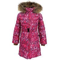 Зимнее пальто-пуховик для девочки, модель YASMINE, цвет fuchsia pattern
