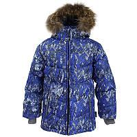 Зимняя куртка-пуховик для мальчика, модель MOODY 1, цвет blue pattern