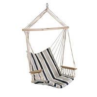 Кресло подвесное для дачи Garden4you HIP  white - blue striped