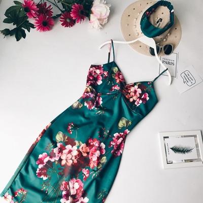 Женское платье -сарафан в цветах