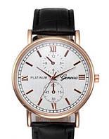 Часы мужские Geneva Platinum с черным ремешком