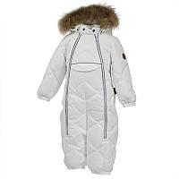 Зимний комбинезон-пуховик для девочки, модель BEATA 1, цвет white