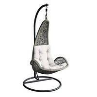 Кресло-кокон подвесное садовое Garden4you TEMPIO with cushion  96xD96xH198cm  grey