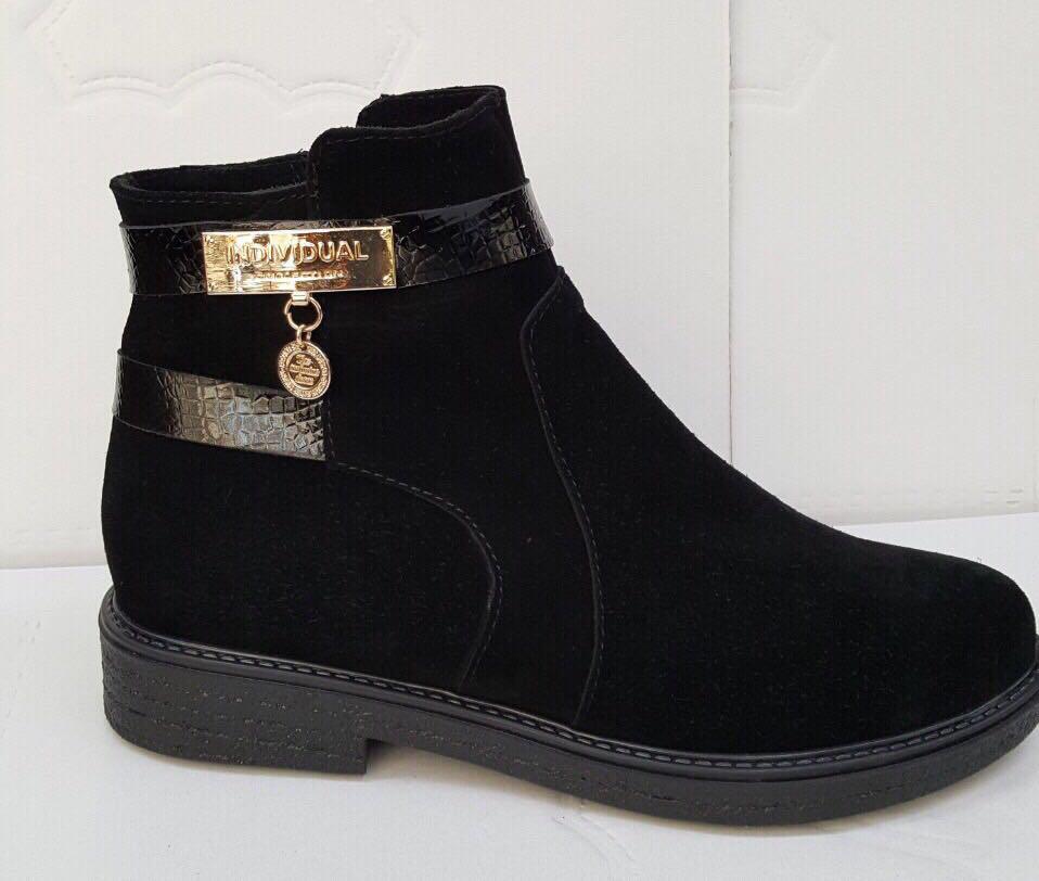 Ботинки женские кожаные зима, деми