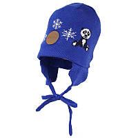 Шапка демисезонная для мальчика, модель DOODY 1, цвет blue