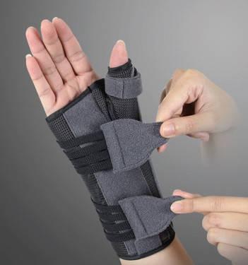 Ортез для променево-зап'ясткового суглоба великого пальця з анатомічними шинами EH-404 (правий), Ortop,, фото 2
