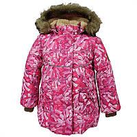 Зимнее термо пальто для девочки, модель OLIVIA, цвет fuchsia pattern