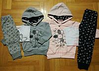 Трикотажный костюм-тройка для девочек  оптом, F&D, 1-5 рр., арт. 3658