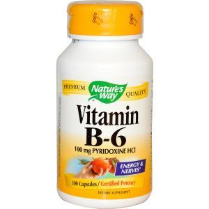 Nature's Way, Витамин B6, 100 капсул