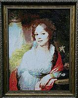 """Вышитая картина В.Л. Боровиковского """"Портрет М.И. Лопухиной. 1797 год"""""""